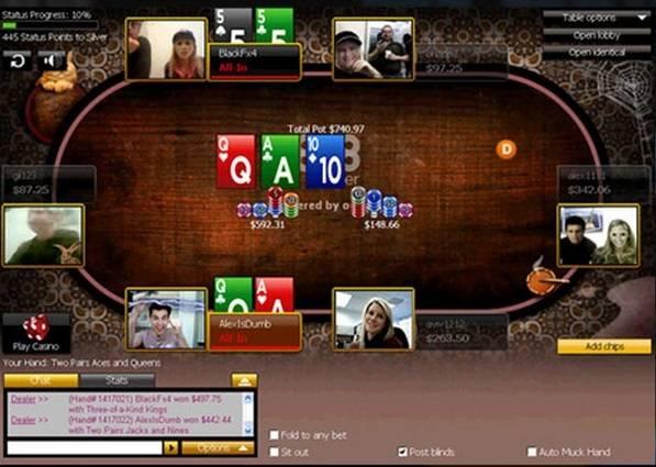 PokerCam за столом